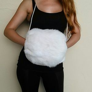Real Rabbit Fur  Muff/ hand warmer
